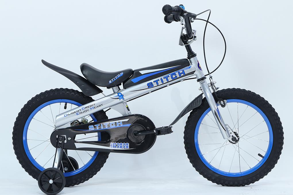 Xe đạp trẻ em STITCH JY903 - Bánh 16 inches màu xanh với giá 2.490.000VND